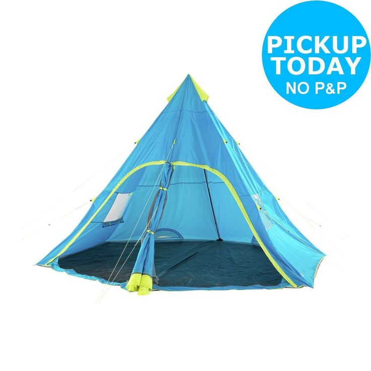 This 6 person tepee is very easy to set up, meaning you can get on with your adventure quicker. It gives you a big living space inside and a huge zipped door for you to get in and out. Inside it has a high roof giving you more room to move around. 6 perso