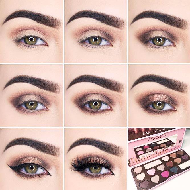 18 Easy Smokey Eye Tutorial Ideas To Look Smoking Hot ★ Step by Step Smokey Eye Makeup for Hazel or Green Eyes picture 1 ★ See more: http://glaminati.com/smokey-eye-tutorial/ #makeuplover #makeupjunkie #makeuptutorial #smokeyeyes