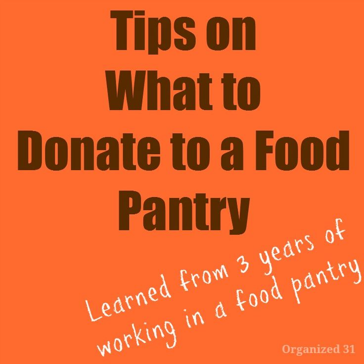 Tips on what to donate to a food pantry. Working in a food pantry gave me insight into the donated items that are most needed.