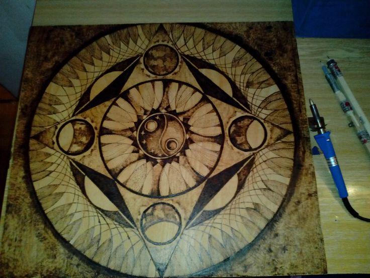 pyrography wood burning,má autorská práce