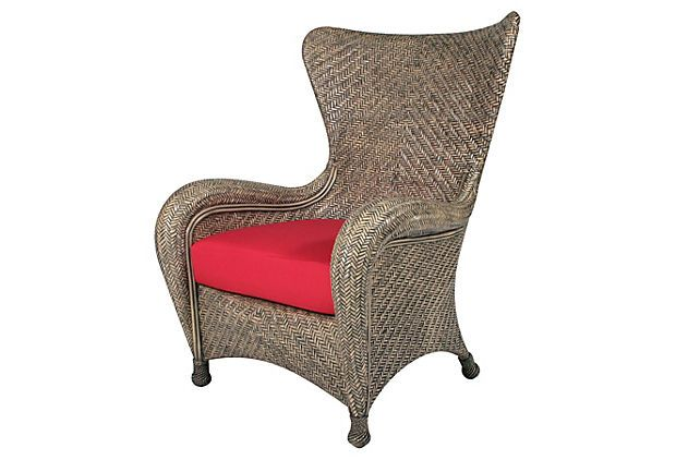 Nova Wing Chair, Gray Wash on OneKingsLane.com