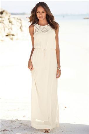 Cutwork Maxi Dress