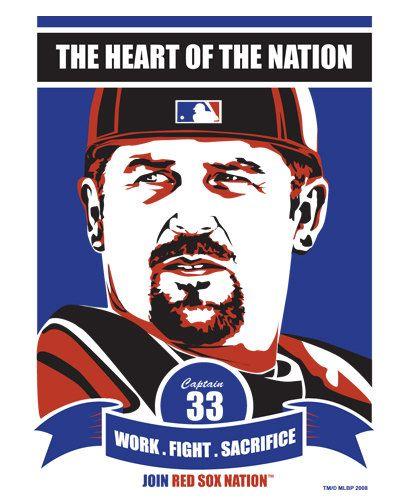 Jason Varitek  Boston Red Sox Baseball Screen by SportsPropaganda, $59.90
