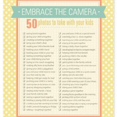 50 photos to take with your kids