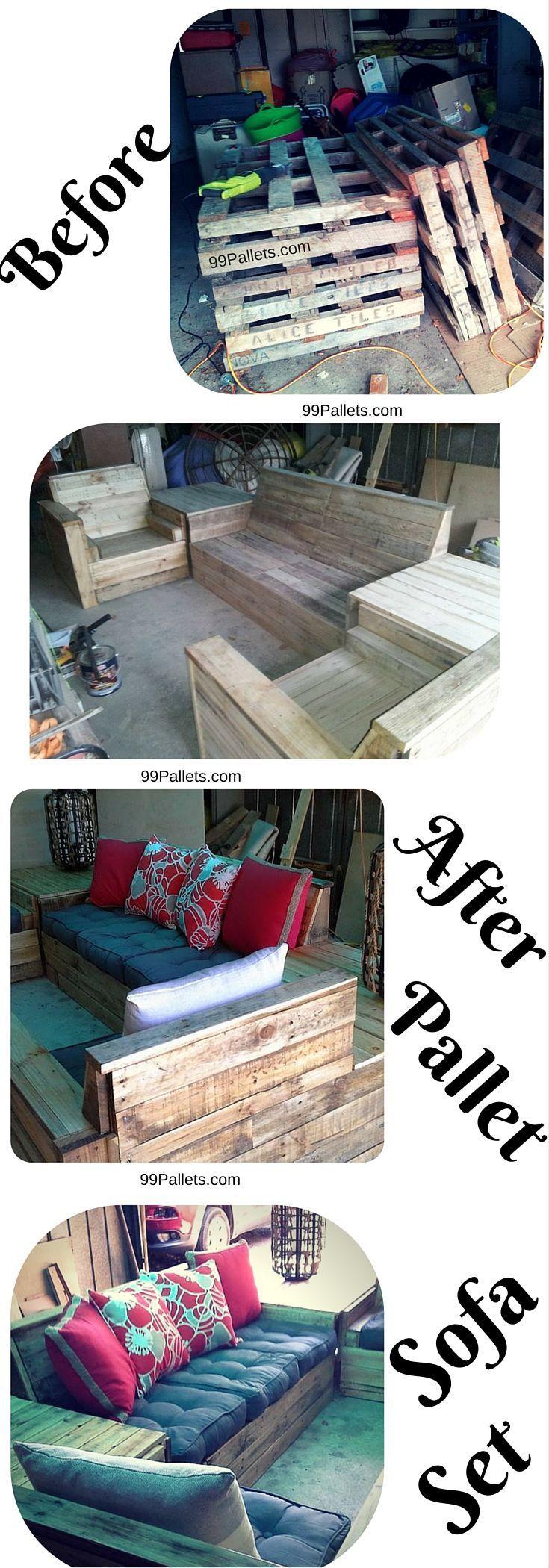 Best 25+ Pallet sofa ideas on Pinterest   Pallet furniture garden ...