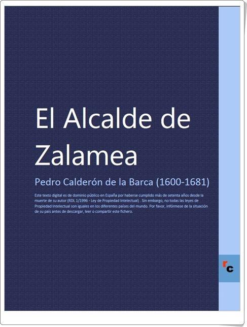 """""""El Alcalde de Zalamea"""" de Pedro Calderón de la Barca"""
