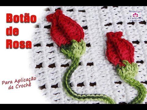 Flor viciadas em crochê,folha, botão e borboleta para aplicação .Por Vanessa Marcondes . - YouTube
