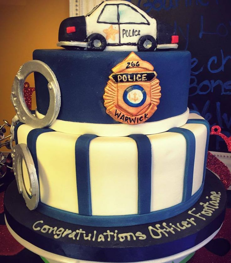 Police Officer Graduation Cake