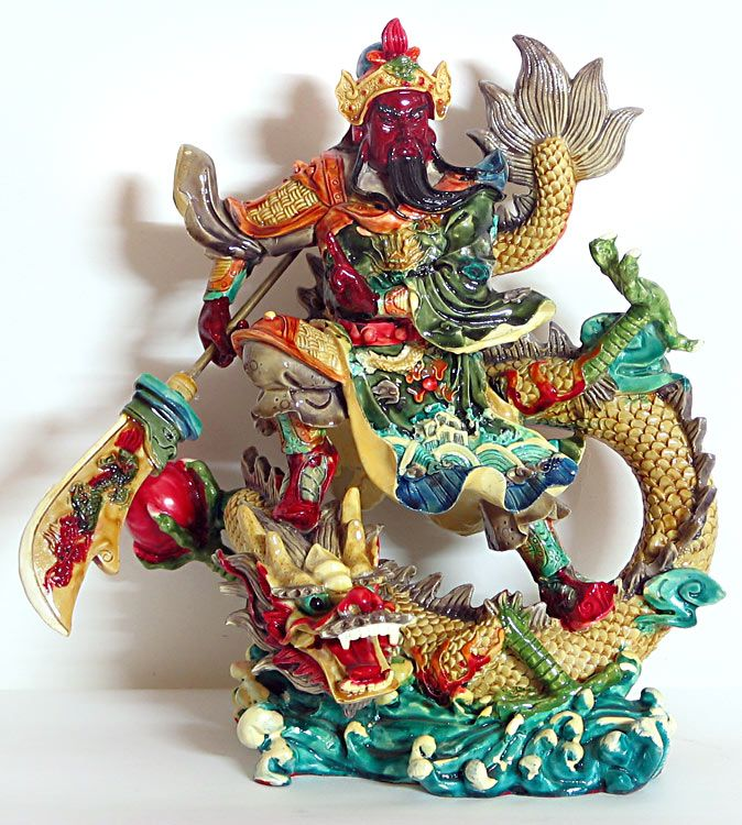 Chinese Dragon Warrior (Poly Resin)