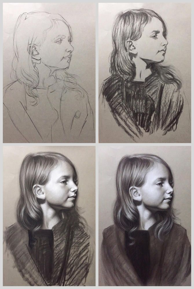 Charcoal Portrait online classes by Brianna Lee. | Portrait ...