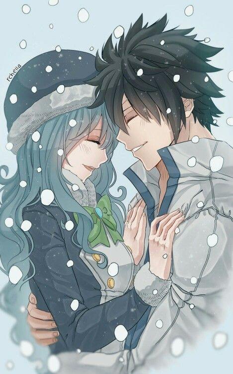 Gray y Lluvia mi pareja número 2 de Fairy Tail