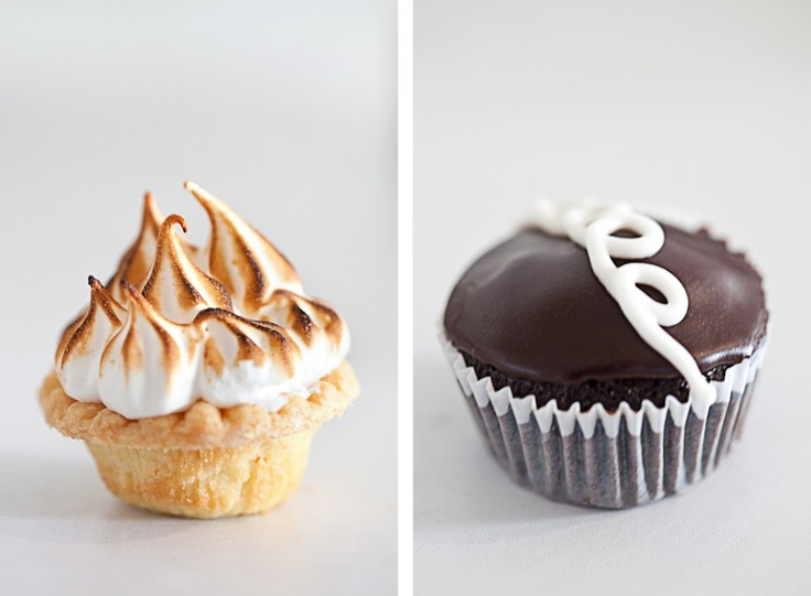 Mini Lemon Meringue Pies & Mini Vegan Hostess Cupcakes
