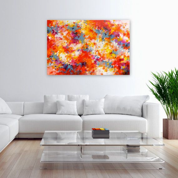 """Abundance II - Acrylic painting on 24"""" x 36"""" canvas. Abstract Expressionism. Modern Home Decor. Contemporary Fine Art."""