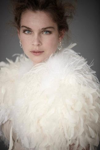 ostrich feather bolero