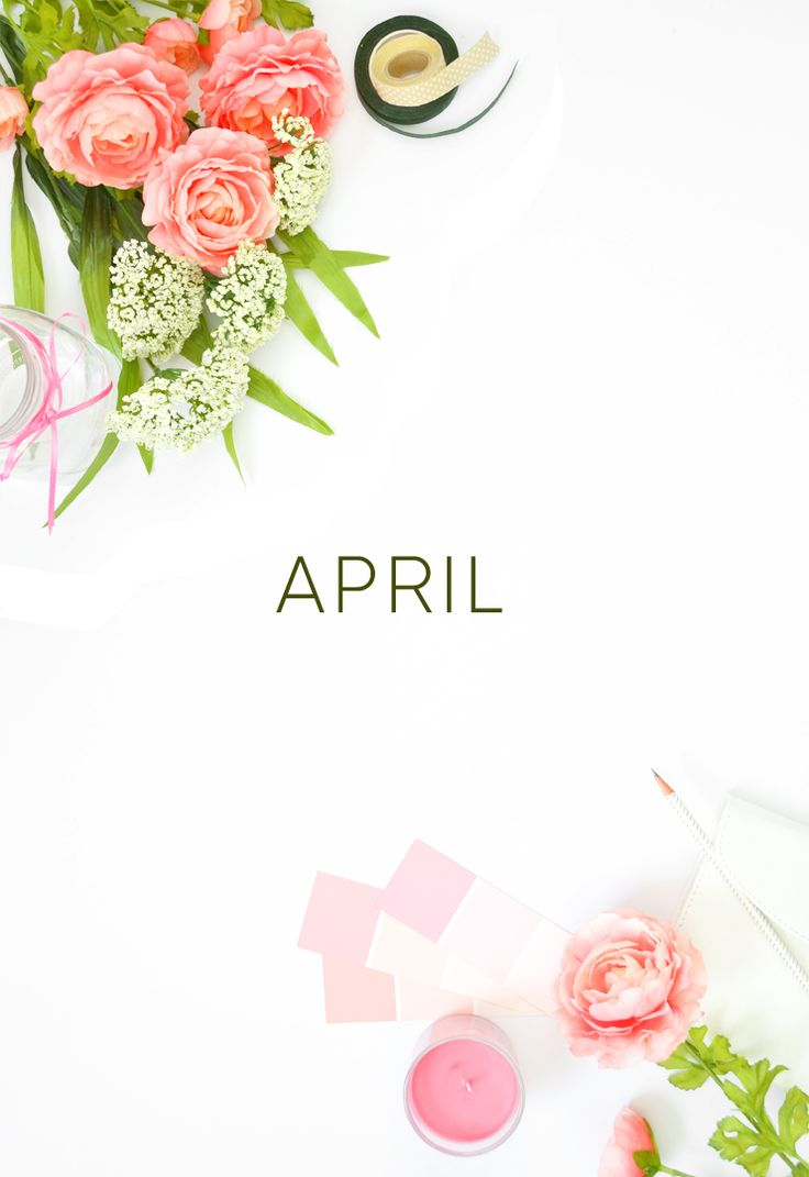 April Calendar Desktop Wallpaper   Free Download   via Spark & Chemistry