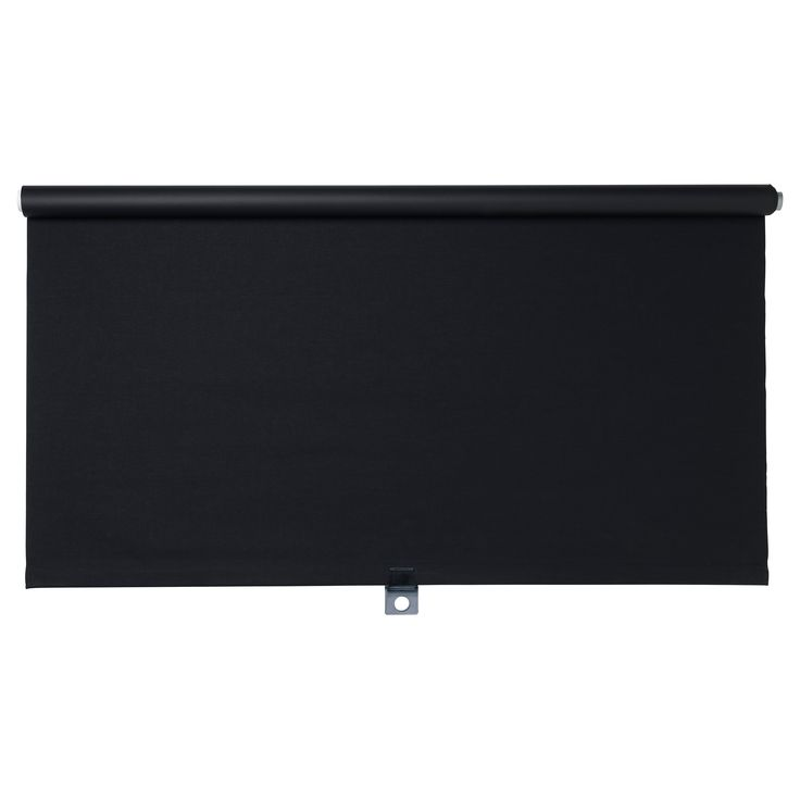 """TUPPLUR Roller blind - black, 24x77 """" - IKEA Cordless for increased child safety. Blackout blind; special coating that does not let any light through."""