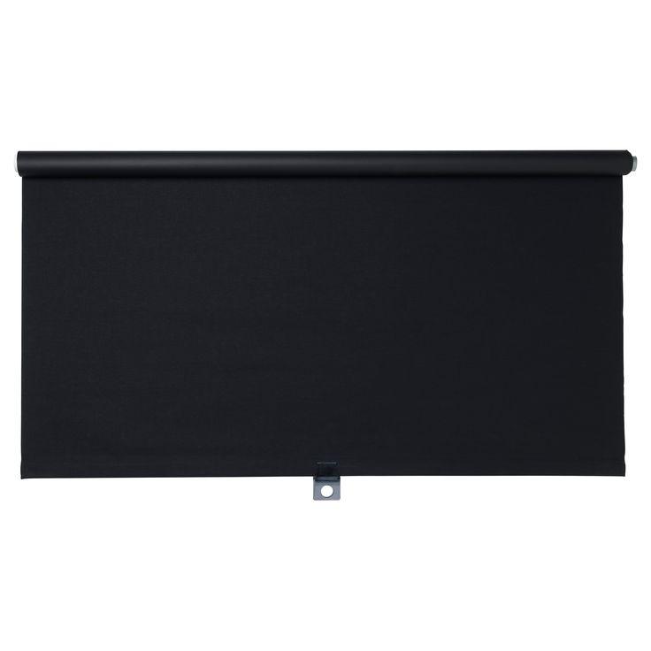 tupplur block out roller blind black. Black Bedroom Furniture Sets. Home Design Ideas