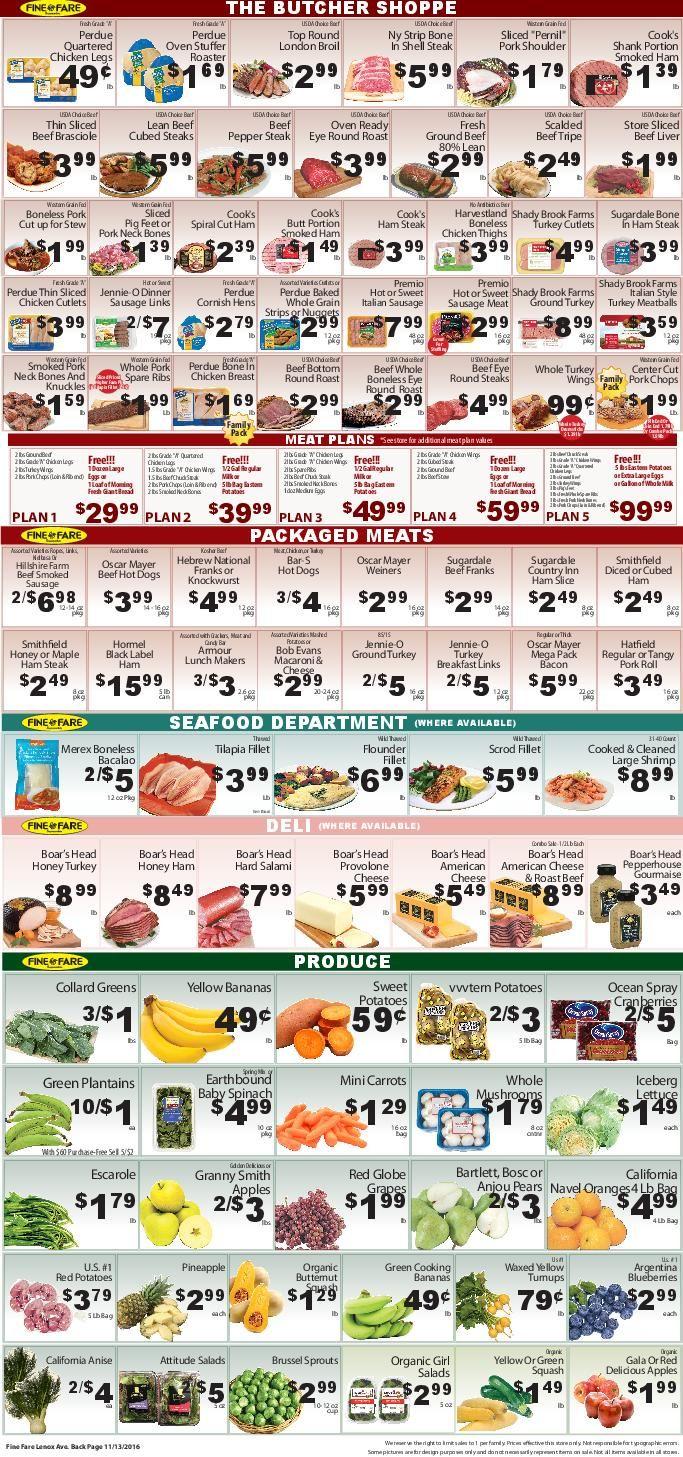 Fine Fare Supermarkets - Weekly Circular