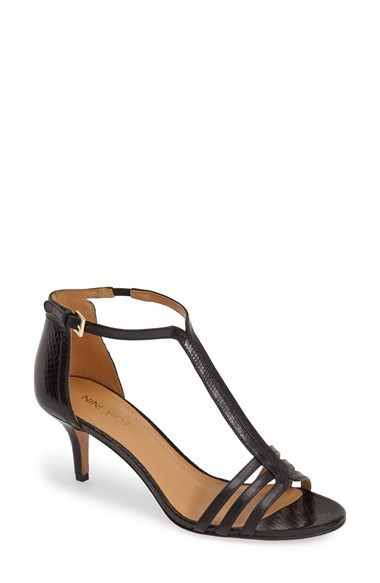Nine West 'Go Home' Kitten Heel T-Strap Leather Pump (Women) available at #Nordstrom