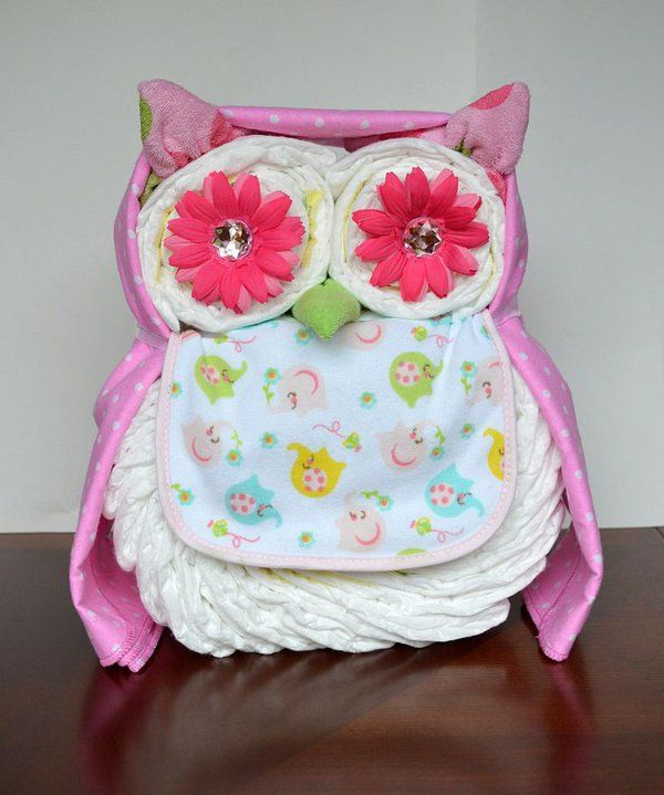 Things To Do With Diapers For A Baby Shower: 25+ Best Ideas About Owl Diaper Cakes On Pinterest