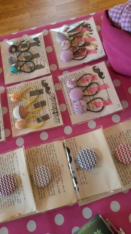 Bookmarks and hairbands
