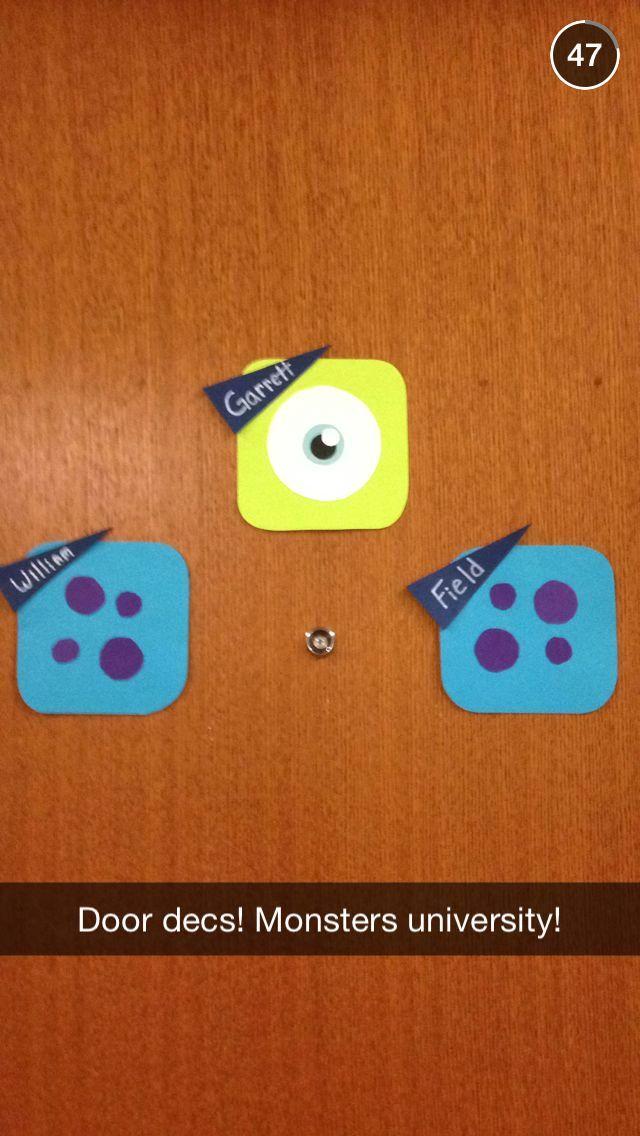 My Monsters university iPhone app style door decs