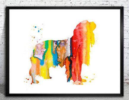 Cavalier King Charles Spaniel Watercolor Print,Home Decor, dog watercolor,watercolor painting,Cavalier King Spaniel art,animal watercolor