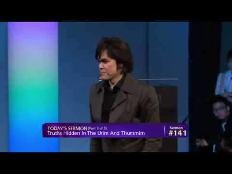 Pastor Prince teaches on the truths hidden In The Urim And Thummim -Destined To Reign: #141 - (Part 3 of 3) JosephPrince.org 1-877-901-4300