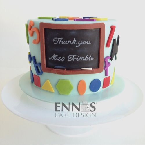 Cake Images For Teachers : 17 Best images about School cakes on Pinterest Preschool ...