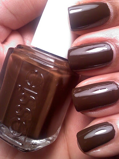 I have been looking for months for a chocolate brown nail polish.....Essie 'Little Brown Dress'