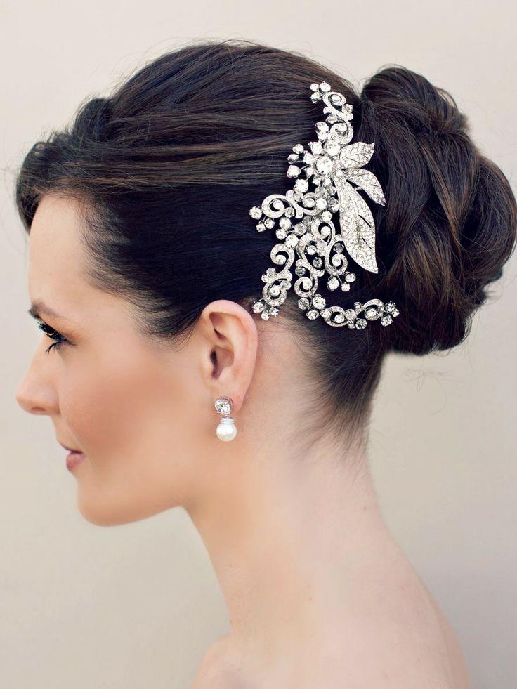Hair Comes the Bride - Vintage Inspired Rhinestone Bridal Hair Clip ~ Sienna, $98.00 (http://www.haircomesthebride.com/vintage-inspired-rhinestone-bridal-hair-clip-sienna/)