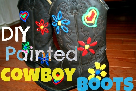Diy Painted Cowboy Boots On Http Blog Aboutone Com