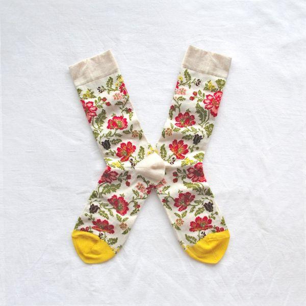 Chaussettes Bonne Maison / Bonne Maison socks - Brocart Naturel