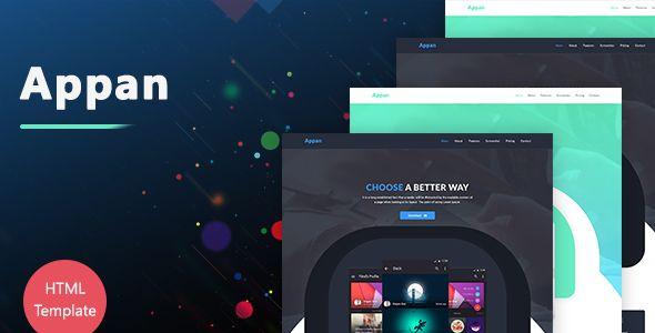 Appan - HTML5 App Landing Page Template