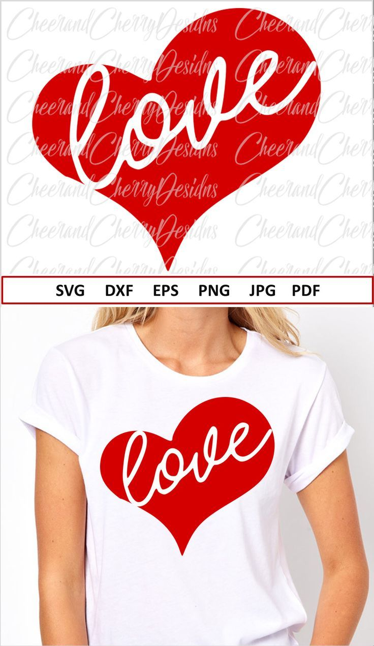 Love Svg For Cricut Valentines Day Svg File For Silhouette Heart Svg