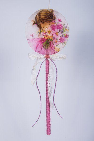 "Easter Candle Lollipos ""Flower Girl"" #lollipops #decoupage"