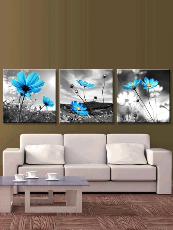 ADOSOUL 5 Panel Modern Home Decorative Frameless Painting Canvas Wall Art for Living Room Bedroom Bathroom