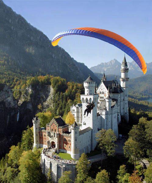 19. Neuschwanstein Castle paraglide (Germany)