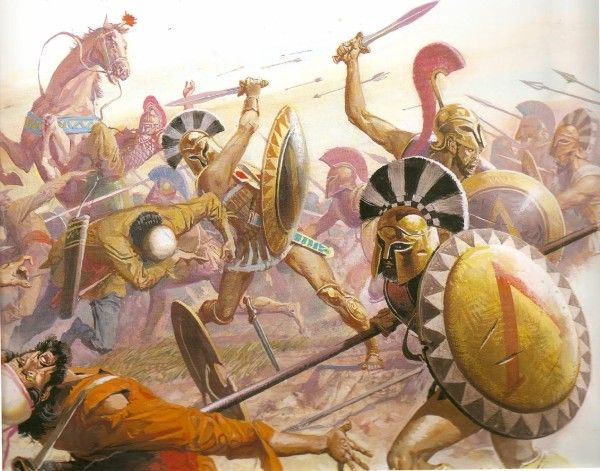 The battle of marathon   Was the first time a greek phalanx meaning in ancient greek to roll or rolling ran in formation