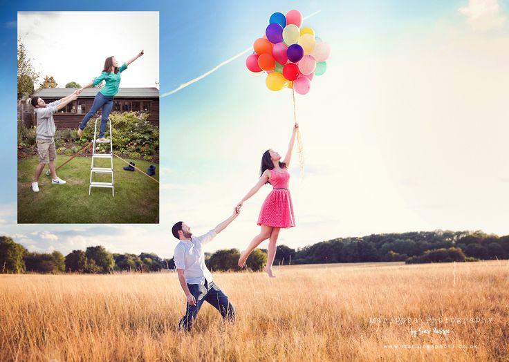 Levitation photography tutorial... with rainbow balloons!!