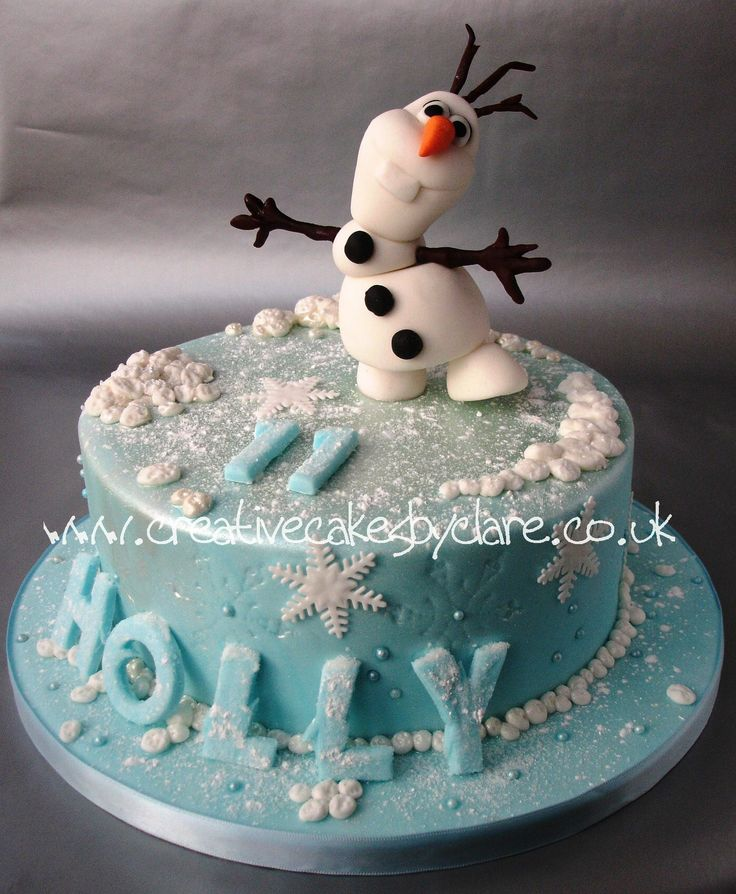 Olaf / Frozen cake in Icy blue