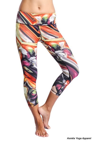 With fun and unique prints, our Lava Capris are great to spice up any work out! This capris covers the hip area and lands just below the belly button. It's form-fitted and will stretch and move with your body.