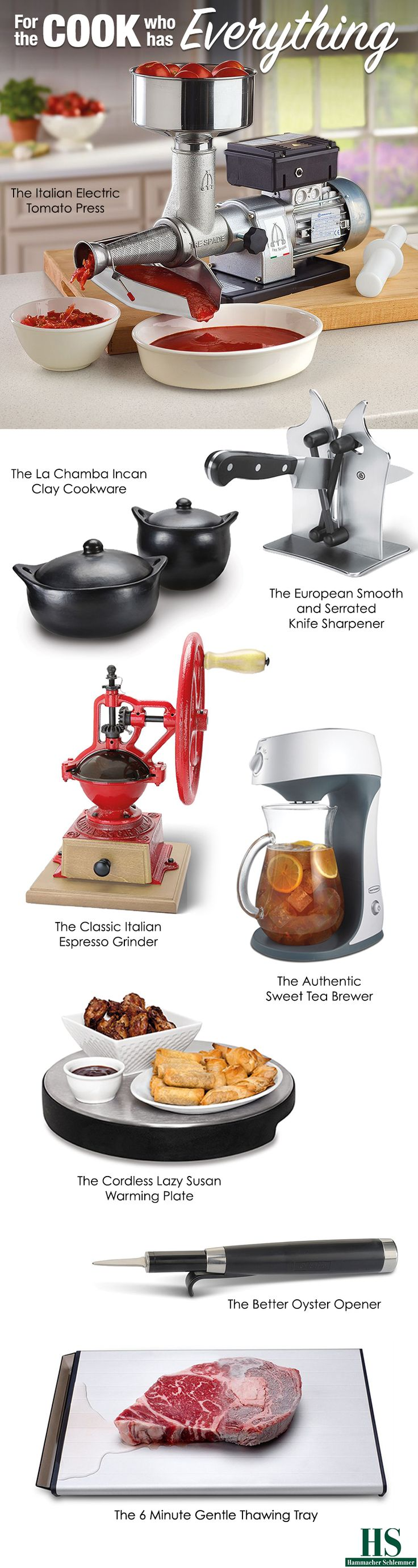 Shop for gifts for the cook who has everything.