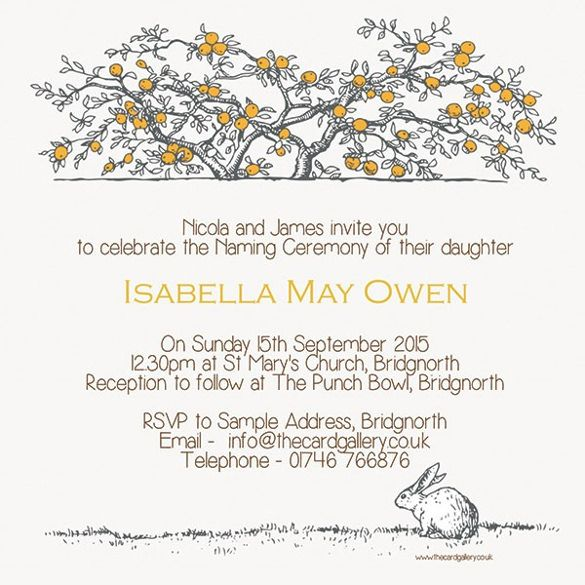 37+ Naming Ceremony Invitations U2013 Free PSD, PDF Format Download | Free U0026  Premium