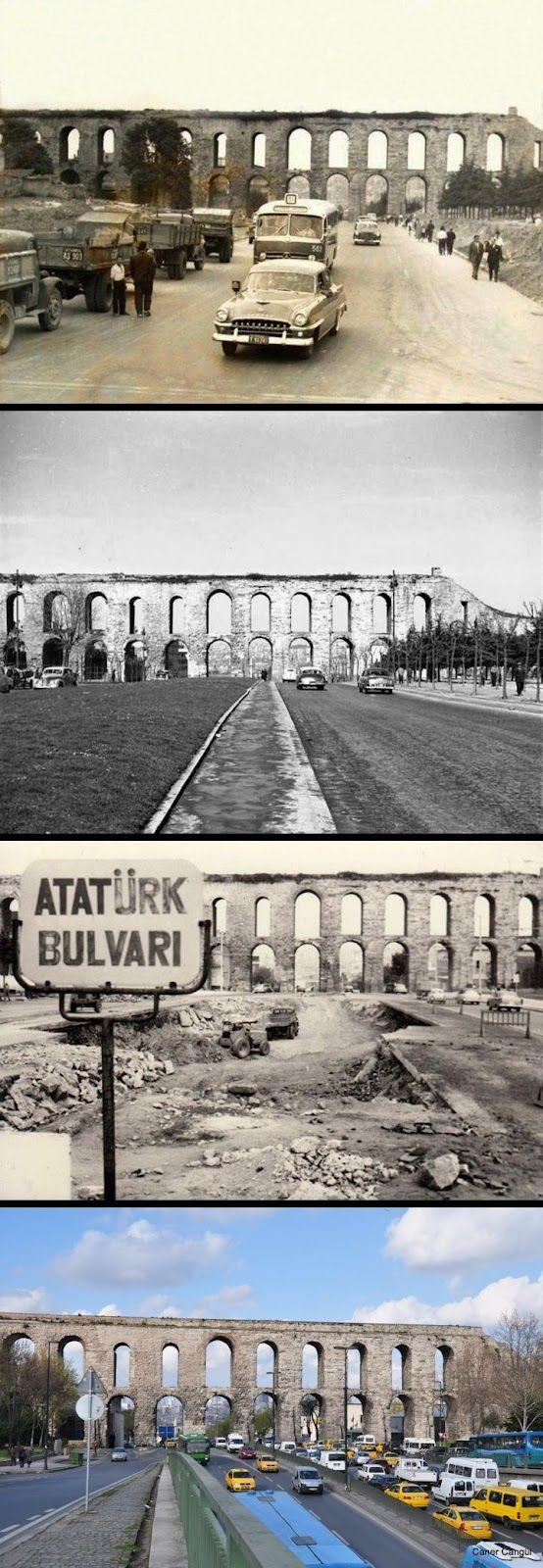 Bozdoğan Kemeri, Saraçhane Eski fotoğraflar: ? 4. fotoğraf: Caner Cangül, Nisan 2010