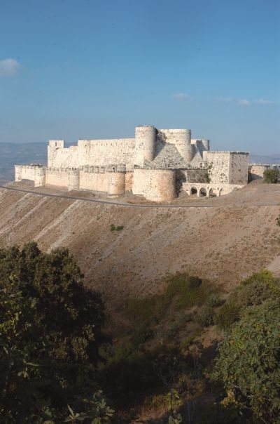 Crac des Chevaliers - Crusader castle in Syria and one of the most important preserved medieval castles in the world.