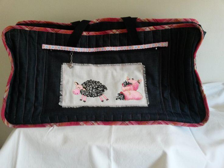 Back of Karenza's diaper bag