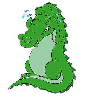 Krokodillentranen huilen. Verdriet veinzen. Doen alsof je verdriet hebt.