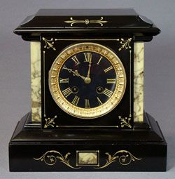 French Black Marble Mantle Clock C1880 S 850 Odd Things