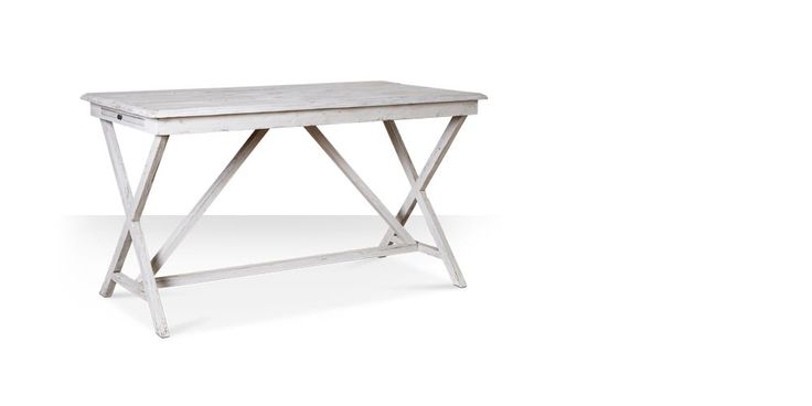 Swoon Editions Desk, modern country style in distressed white - £299